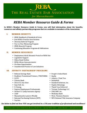 REBA Member Resource Guide &