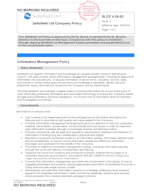 Company Property Policy Template Fill Out Online Download - Company property policy template
