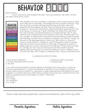 Fillable behavior warning letter to parents - Edit, Print