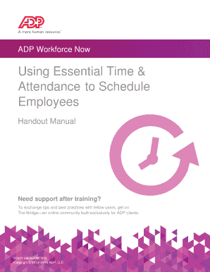 adp workforce now training manual - Edit Online, Fill Out