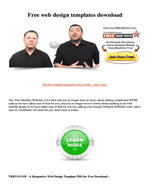 Responsive web design templates free download