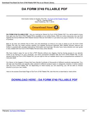 Fillable Online Da Form 3749 Fillable - Download Read PDF eBook ...