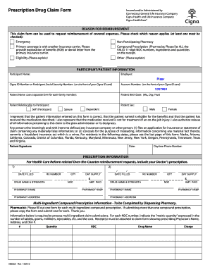 Fillable Online 583522i Prescription Drug Claim Form