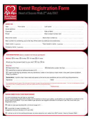 picture regarding Printable Registration Form Template Word referred to as 8 Printable function registration style template - Fillable