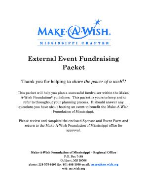 Fillable Online External Event Fundraising Packet - Make-A
