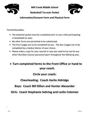 Boys Basketball Try Outs Packet