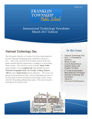 Newsletter templates google docs edit fill out online templates instructional technology newsletter march2017cx spiritdancerdesigns Choice Image
