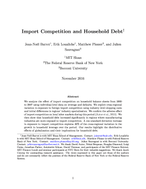 Import Competition and Household Debt - Bendheim Center for