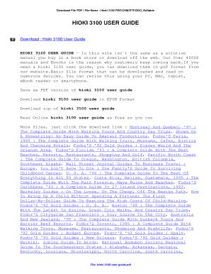 fillable online hioki 3100 user guide hioki 3100 user guide fax rh pdffiller com
