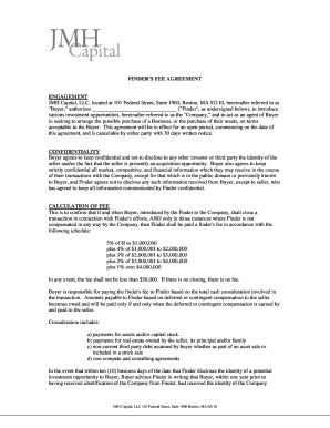 Editable m a finders fee agreement - Fill Out & Print, Download in