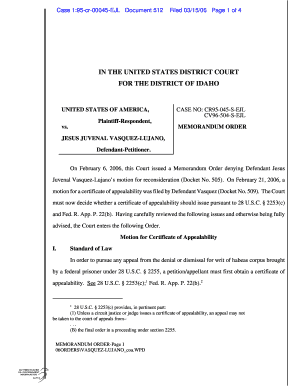 Sample motion for certificate of appealability editable case 195 cr 00045 ejl document 512 yelopaper Gallery
