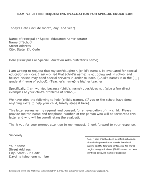 Fillable Cover Letter Special Education Administrator Edit
