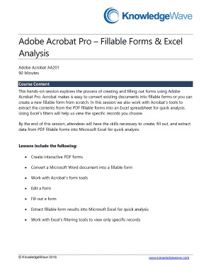 fillable online aa201 adobe acrobat pro fillable forms excel
