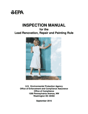 Fillable Online Inspection Manual for the Lead Renovation