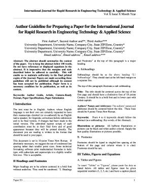 Fillable Online to download Manuscript Template pdf