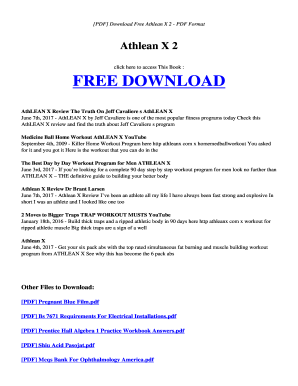 athlean x meal plan pdf download Athlean X Pdf - Fill Online, Printable, Fillable, Blank | PDFfiller