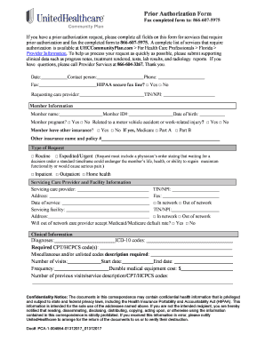 united healthcare prior authorization form download Prior Authorization Fax Request Form - UnitedHealthcare ... Fill ...