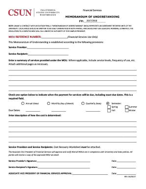 Fillable mou contract sample edit print download form mou form csun spiritdancerdesigns Image collections