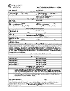 Printable bank of america wire transfer fee waived - Fill Out ...