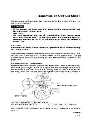 honda manual transmission fluid check