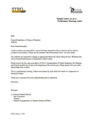 Printable sample warning letter to student for misbehaviour edit sample warning letter to student for misbehaviour altavistaventures Choice Image