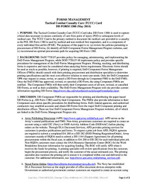Fillable Online TCCC Card (DD Form 1380) - Procurement - 04Jun14 ...