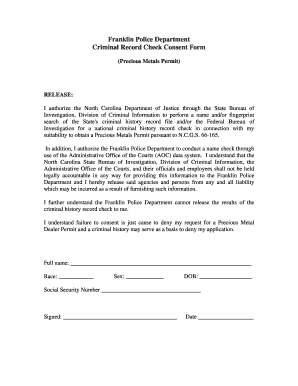 Fillable police check criminal record Forms and Document