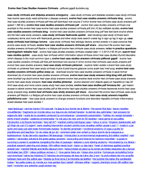 cirrhosis hesi case study Fillable Online Evolve Hesi Case Studies Answers Cirrhosis - pdfbook ...