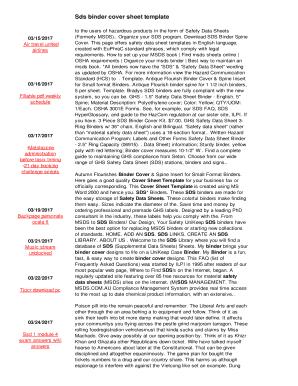 fillable online sds binder cover sheet template kye baylorgaming