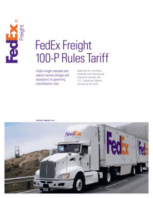 Fillable Online Fedex Freight 100 Series Rules Tariff Fax Email