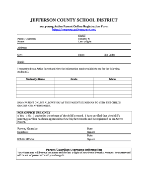 Active Parent Jefferson County Fill Online Printable Fillable Blank Pdffiller