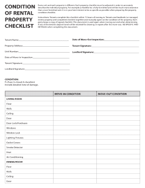 Printable furnished rental checklist - Fill Out & Download Top ...