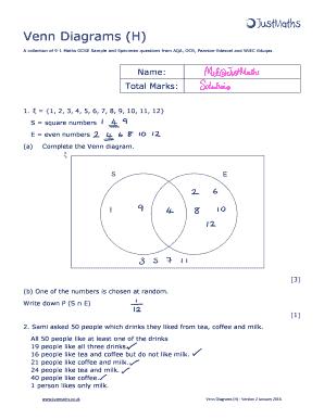 fillable online venn diagrams h fax email print pdffiller rh pdffiller com venn diagram history venn