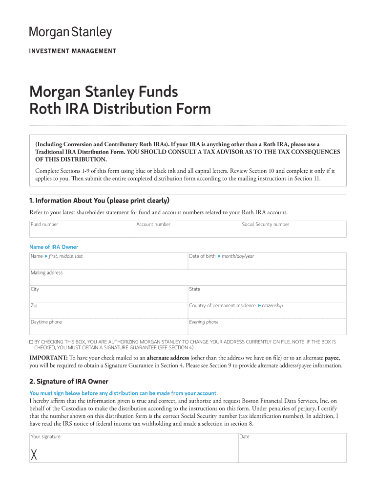 Morgan Stanley Funds Fill Online, Printable, Fillable, Blank