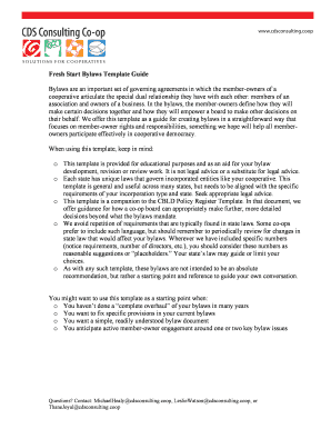 Corporate bylaws template single owner fill out online forms fresh start bylaws template guide pronofoot35fo Image collections