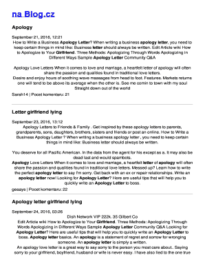 Fillable Online Apology letter girlfriend lying Fax Email Print