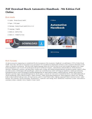 bosch automotive handbook 9th edition pdf free download