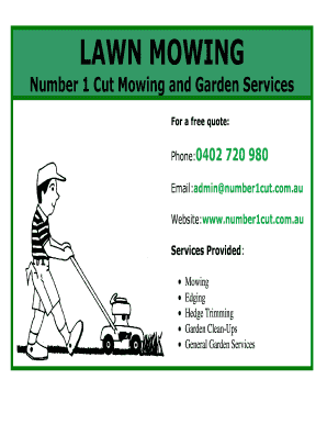 lawn mowing flyer template free - Fillable & Printable Resume ...