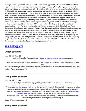 Fillable line Fancy letter generator Fax Email Print PDFfiller