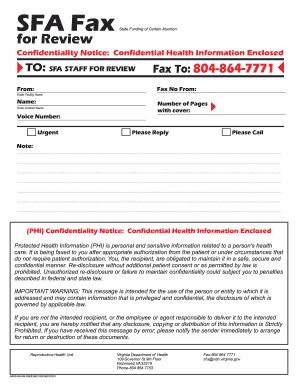 44810 SFA FAX COVER SHEET.cdr   Virginia Department Of Health  Fax Examples