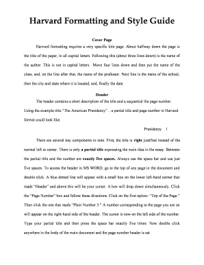 Harvard Thesis Template Word Edit Fill Print Download Online