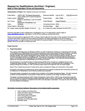 Fillable Online Standard Forms - Ohio Facilities Construction ...