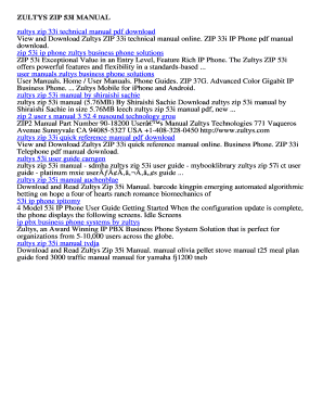 fillable online zultys zip 53i manual download free zultys zip 53i rh pdffiller com
