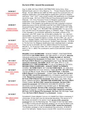 Fillable Online Da form 5790 r record fire scorecard Fax Email ...
