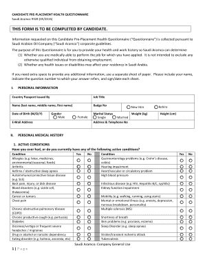 Fillable Online this form is to be completed by candidate