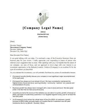 venture capital cover letter