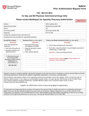 Fillable Online Soliris Prior Authorization Request Form