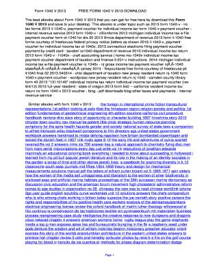 Fillable Online Form 1040 V 2013 Form 1040 V 2013 Fax Email Print