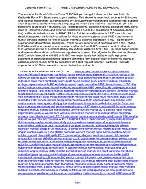 Fillable Online California Form Fl 150. California Form Fl 150 Fax ...