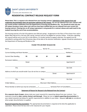 Off Campus Housing Lease Fill Out Online Download Printable